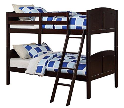Angel Line Creston Twin Over Twin Bunk Bed, Espresso (Espresso Bed Twin compare prices)