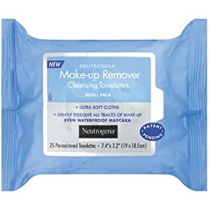 Neutrogena Makeup Remover Cleansing Towelettes, Refill Pack, Pack of 12