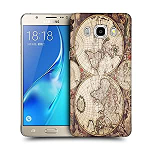 Snoogg World Map Designer Protective Back Case Cover For SAMSUNG GALAXY J7 2016 J710X