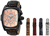 Invicta Men's 12645 Lupah Grand Collection Watch with Interchangeable Leather Straps Watch SeT