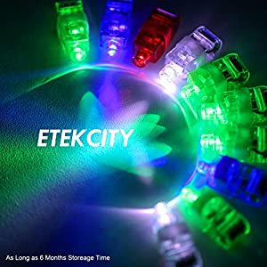 Etekcity Super Bright LED Finger Lights Light up Toys Party Favor Supplies (100 Pcs) by Etekcity