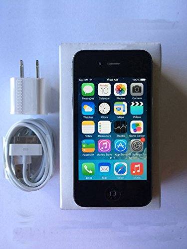 Black iPhone 4S 16GB Factory Unlocked 90 Days Warranty 14 Days Return. image