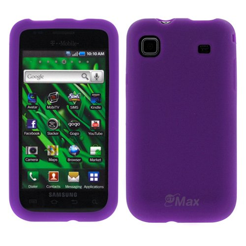 GTMax Purple Durable Silicone Skin Rubber Soft Cover Case For Samsung t959 Cell Phone