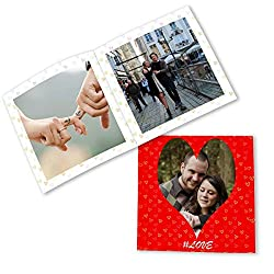 Clixicle Customized Flip Photo Book - This is Love Red, 20 pages, 6in x 6in