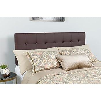 Flash Furniture Lennox Tufted Upholstered Full Size Headboard in Brown Vinyl