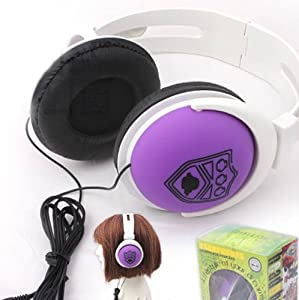 Headphone Over Ear with Anime Katekyo Hitman Reborn, Purple