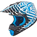 Fly Racing Three.4 Adult MotoX/Off-Road/Dirt Bike Motorcycle Helmet - White/Blue / Medium