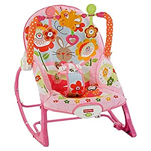 Fisher-Price Fisher Price Pink Bunny Infant To Toddler Rocker