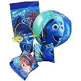 Disney Pixar Finding Nemo-Dory Ultimate Beach Gift Bundle -Beach Pail, Goggles, Beach Ball, Arm Floaties, Sling...