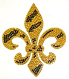Gold Zebra Fleur De Lis Crystal Rhinestone Removable Decal Sticker at Amazon.com