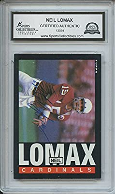 Neil Lomax Autographed Arizona Cardinals Trading Card - Encapsulated & Certified Authentic