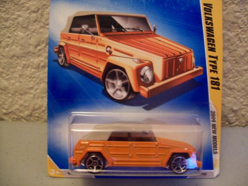 Hot Wheels 2009 New Models Orange Volkswagen Type 181 1:64 Scale - 1