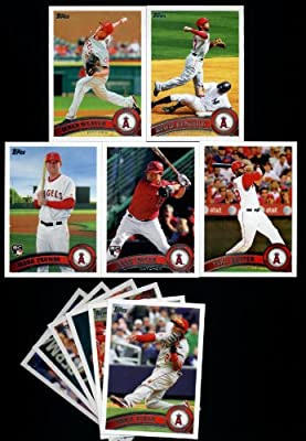 2011 Topps Los Angeles Angels Complete Series 1 & 2 Team Set / 23 Cards including Weaver, Kendrick, Hunter,Trumbo RC, Hank Conger RC, Haren, Vernon Wells & more!