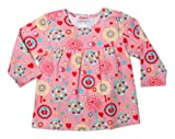 Zutano Baby-Girls Infant Apple Tree Peasant Top, Pink, 12 Months