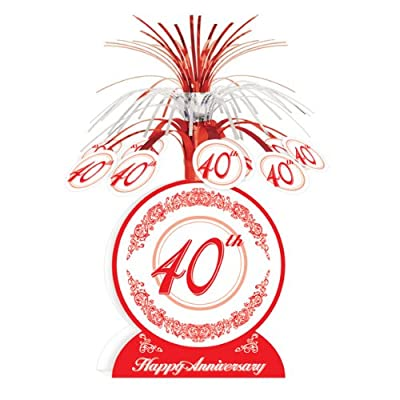40th Anniversary Centerpiece Party Accessory