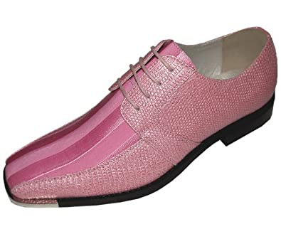 Mens Pink Dress Shoes