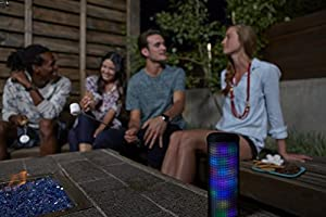 JAM Trance Plus Wireless Lightshow Bluetooth Speaker, 36 LED Light Party Programs, Built-in Speakerphone, Rechargeable, Play Music, Connect to iPhone, Android, Perfect for Parties, HX-P930