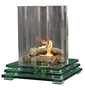 Firenze glassfire Glass Fire Pit Indoor/Outdoor Fireplace
