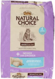 Natural Choice Indoor Senior Cat White Fish and Whole Brown Rice Formula Food, 14-Pound