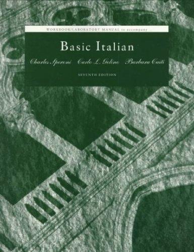 Basic Italian (Workbook/Laboratory Manual)