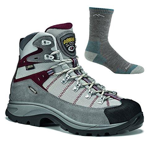 Asolo Women's Revert GV Hiking Boot Donkey/Grey w/ Darn Tough Sock