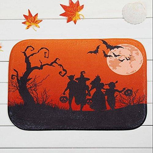 Bat Halloween Witch Al Crepuscolo prima che la porta della camera da letto Zerbino da letto Soggiorno Tappeto ( Colore : Halloween Evening )