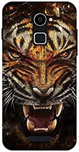 The Racoon Grip tiger hard plastic printed back case / cover for Coolpad Note 3 Lite