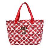 ANNA SUI ANNA SUI トートバッグ バッグ ふわふわ素材 リバーシブル レッド×ブラック 並行輸入品 AMI386