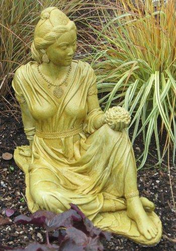 Zen Style Quan Yin Statue Holding Lotus Flower