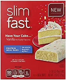 buy Slim-Fast Meal Bars, Have Your Cake, 5 Count (Pack Of 2)