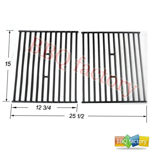64362 Porcelain Cast Iron Cooking Grid Grate Replacement For Select Gas Grill Models By Broil King, Broil-Mate And Others, Set Of 2
