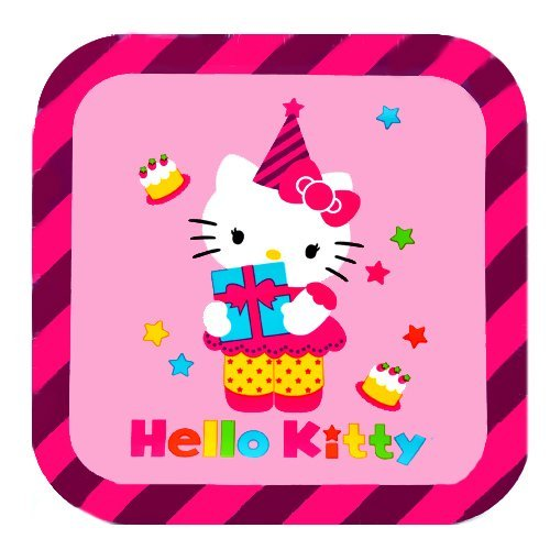 Hello Kitty Square Dessert Plates 8 Ct