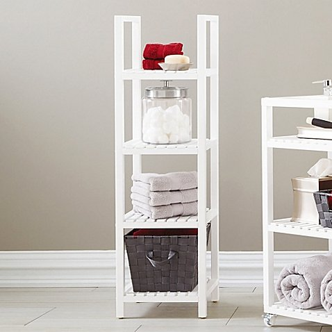 Bristol 4-Tier Birch Wood Tower in White (Expresso Tower compare prices)