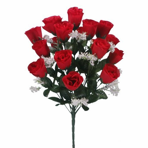 18-head-red-rose-buds-artificial-flower-bush-weddings-graves-by-floral-natalie