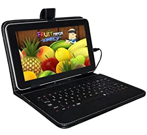"UNIVERSALGADGETS BLACK KEYBOARD CASE FOR 9"" ANDROID PC TABLET NETBOOK WITH MICRO USB CONNECTION"