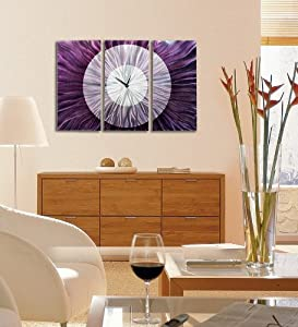 Contemporary Abstract Silver And Purple