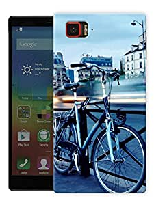 "Cycle On A Bridge Printed Designer Mobile Back Cover For ""Lenovo Vibe Z2 Pro K920"" By Humor Gang (3D, Matte Finish, Premium Quality, Protective Snap On Slim Hard Phone Case, Multi Color)"