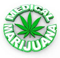 Medical Marijuana - Words and Leaf Icon - Peel and Stick Wall Decal by Wallmonkeys