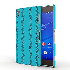Koveru Designer Printed Protective Snap-On Durable Plastic Back Shell Case Cover for SONY XPERIA Z3 - Bicycle chain