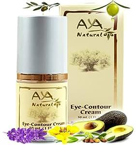 Aya Natural Natural Eye Cream for Dark Circles Premium Vegan Contour Undereye Creme Shea, Jojoba, Olive, Almond, Rosemary and Avocado Oils Blend