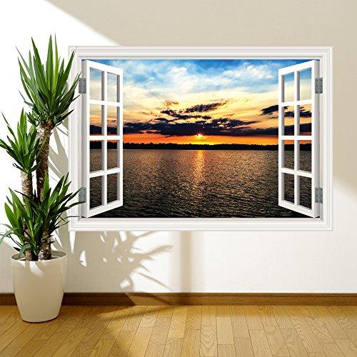 Full Multi Colour Sunset Paradise Window Wall Art Sticker Decal Mural Print RW8