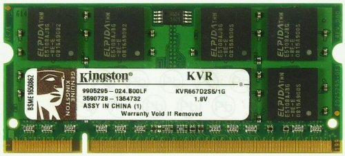 Notebook Ram 1GB Kingston KVR667D2S5 1G 1.8V ID10960