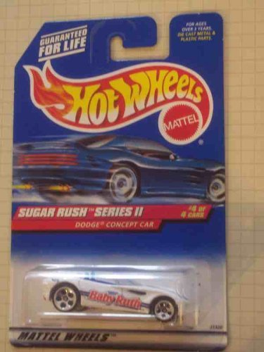 Sugar Rush 2 Series #4 Dodge Concept Car Metal Base WIth DCC And Concept On Base #972 Condition Mattel Hot Wheels 1:64 Scale - 1