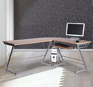 Bureau d 39 angle pour ordinateur meuble informatique table - Meuble d angle pour ordinateur ...