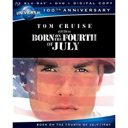 Born on the Fourth of July [Blu-ray + DVD + Digital Copy] (Universal's 100th Anniversary)