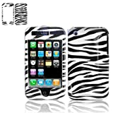 Black and White Stripes Zebra Skin Animal Design Snap-On Cover Hard Case Ce ....