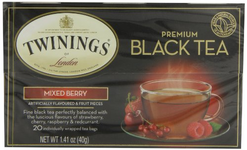 Twinings Mixed Berry Tea, 20-Count Tea Bags (Pack of 6)