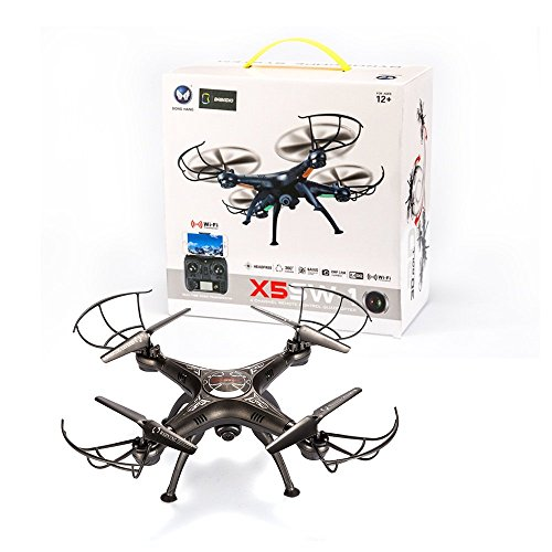 BABADIO-2-Remote-Control-Mode-4-Channel-24G-6-Axis-Gyro-RC-Headless-Quadcopter-X5SW-1-Drone-with-Wifi-Camera-FPV-for-Real-Time-Video-Transmission-Black