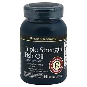 Pharmassure fish oil triple strength 60 for Rite aid fish oil