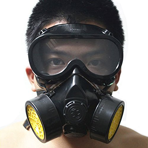 Vktech Industrial Gas Chemical Anti-Dust Respirator Mask Goggles Set (Style A) (Chemical Gas Mask compare prices)